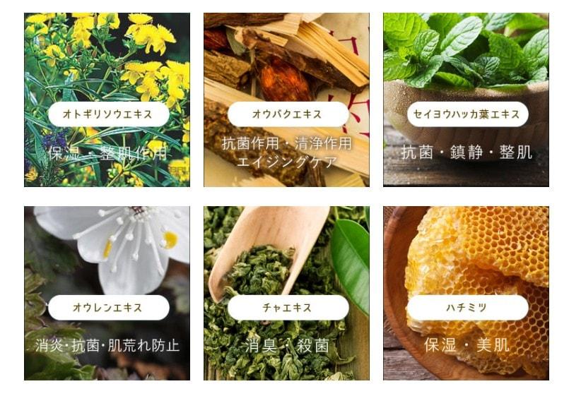 6種類の天然植物由来のジャムウ成分を配合